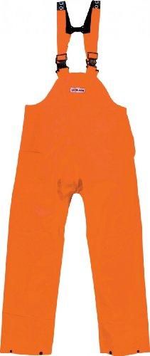 Ocean Rainwear Damen Herren Regenhose Latzhose Modell Budget , Farbe:orange, Größe:XL