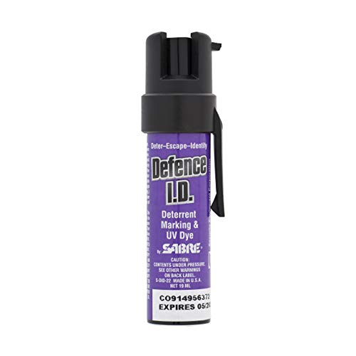 Sabre DID19,spray deterrente colorante, formato tascabile, con vernice UV, DID19