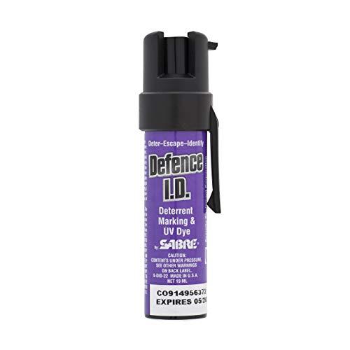 SABRE DID19 Spray disuasorio para marcar en Bolsillo o Bolso de Mano con UV, SABRE-SDID-22
