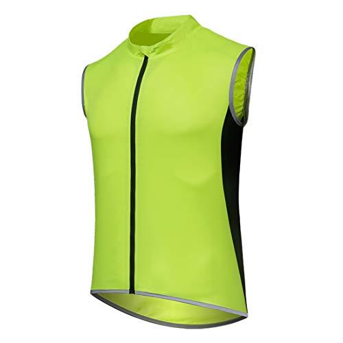 GWELL - Chaleco Ligero para Bicicleta para Hombre y Mujer, Impermeable y Transpirable, Resistente al Viento, Todo el año, Hombre, Color Herren Grün, tamaño Large