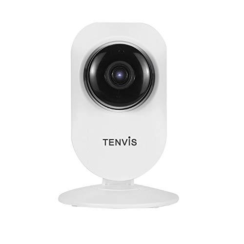 Tenvis T8817D - Cámara IP Wi-Fi, HD 1080p (2.0 Mpx), audio, visión nocturna, altavoz, micrófono, ranura Micro-SD, ONVIF, P2P (Plug & Play)