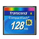 Transcend 128mb Compactflash Memory Card 128 MB Compact Flash Memory...