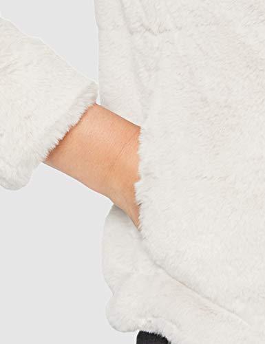 Only Onlchris Fur Hooded Jacket Otw Noos Chaqueta, Gris (Pumice Stone Pumice Stone), Medium para Mujer