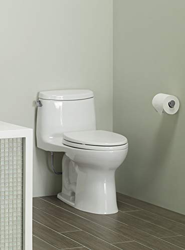 """Toto MS604114CEFG#01 UltraMax II One-Piece Elongated 1.28 GPF Universal Height Toilet with CEFIONTECT, Cotton White, L 28 3/8"""" x W 16 1/2"""" x H 28 3/4"""""""