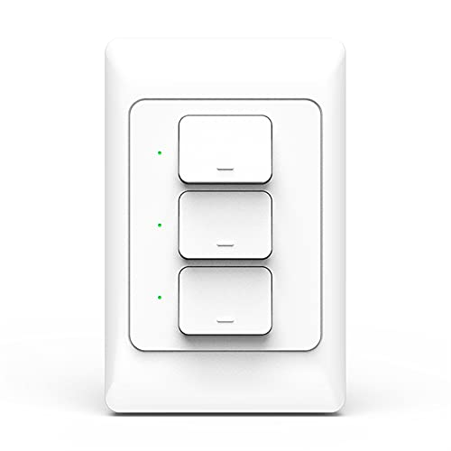HUANHUAN Huan Store 3.0 Push Light Switch SmartThings Smart Life Control US AU. Interruttori a Muro Fisico (Color : Three Gangs)