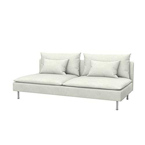 Soferia Funda de Repuesto para IKEA SÖDERHAMN módulo de 3 plazas, Tela Strong Marble, Off-White