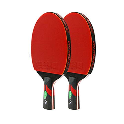 Great Features Of XSWY Table Tennis Racket, Genuine Double-Sided Anti-Adhesive Racket, 2 Packs (Send...