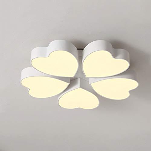 Plafonnière, eenvoudige moderne LED-plafond, tegels, plafond, voor slaapkamer, bruiloft, woonkamer, studeerkamer, plafondlamp (optioneel), Startside warme deken (kleur: kleurverloop -5-63 cm)