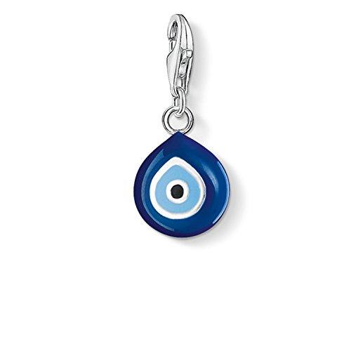 Thomas Sabo Damen-Charm-Anhänger Türkisches Auge Charm Club 925 Sterling Silber blau schwarz 0829-007-1
