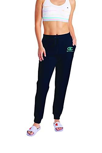 Champion Calcinha de biquíni feminina estampada clássica de praia moderada com laço lateral, Athletic Navy-586180, XXL