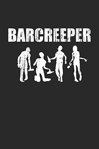 Barcreeper: Notizheft für Barmann & Barkeeper zu Halloween für den Stammtisch | A5 | kariert