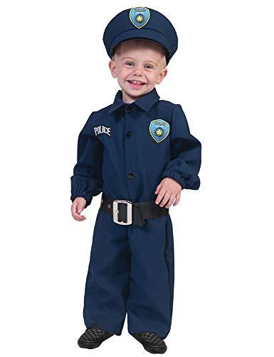 Policeman Polizist Baby Kostüm, Dunkelblau / Schwarz, 92