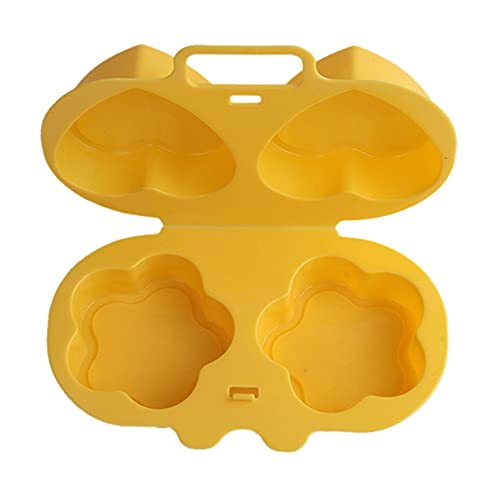 IKAAR Microondas Huevo Escalfador Corazón y Flores Forma Huevo Vaporizador Cocina Horno Huevo Tazas De Huevo Molde De Cocina Utensil