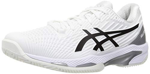 ASICS Solution Speed FF Clay, Zapatos de Tenis Hombre, Blanco y Negro, 42 EU