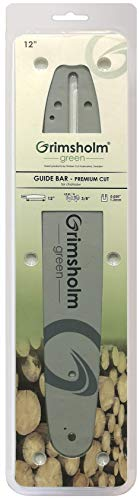 Grimsholm Green - Carril de guía para Husqvarna (12-14' 3/8', 0,050'/1,3 mm)