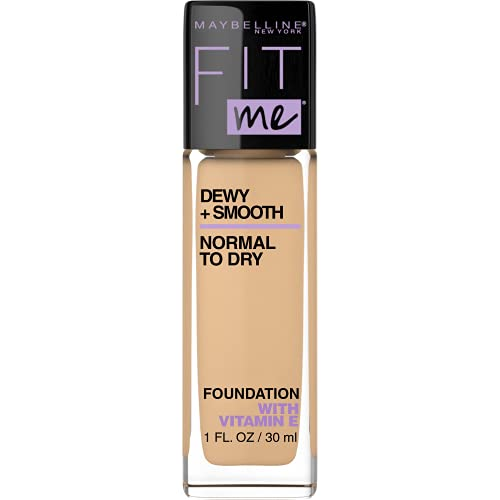Maybelline New York Fit Me Dewy + Smooth Foundation, 120 Classic Ivory, 1 Fl. Oz (Count of 1) (Packaging May Vary)