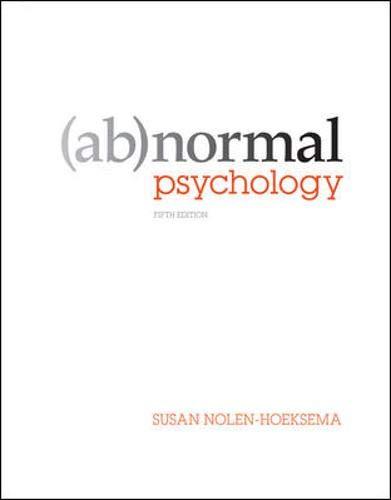 Top 10 abnormal psychology 8th edition nolen-hoeksema for 2021