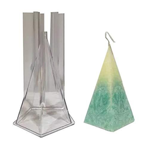 Ardentity Kaarsvorm van kunststof, conisch, 3D, kaarsvorm, knutselgereedschap, handwerk, set voor het maken van kaarsen
