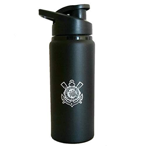 Squeeze Fosco Corinthians com Bico 600 ml - Preto - Único