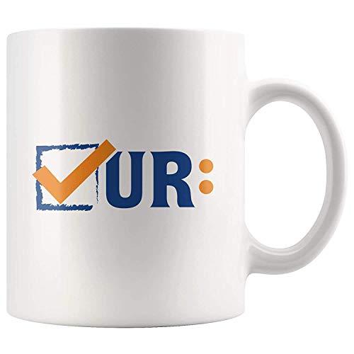 Colon Cancer Awareness Mug Colonoscopies Check Ur- 11 oz Novelty Cup - Darmkrebs-Awareness für den Monat März - White Ceramic Gift Kaffee-Teetasse Becher - Geschirrspüler und Mikrowelle sicher