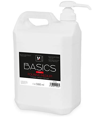 Malverk Basics -2in1- Acryl Pouring Medium & Vinylkleber 5 Liter mit Dosierpumpe
