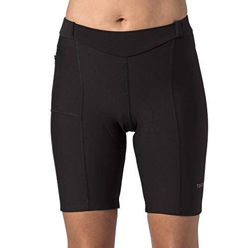 Terry Women's Touring Cycling Shorts/Regular - Best Padded Compression Multi-Day, Moisture-Wicking Cycling Shorts for Touring (Black, X Small)