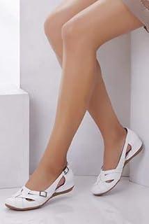 TARÇIN Hakiki Deri Günlük Kadın Babet Ayakkabı TRC50-4002