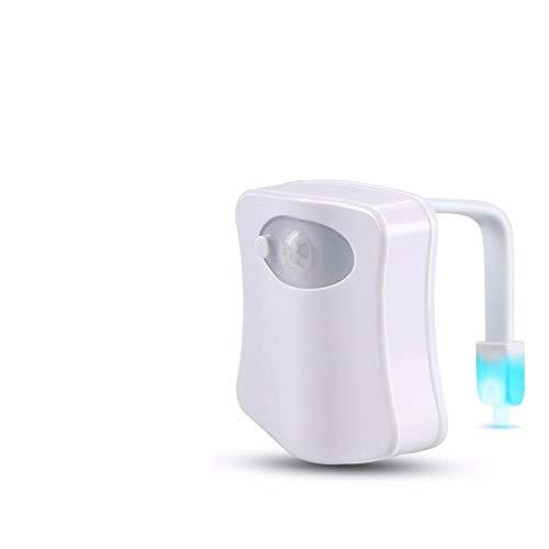 Cambio automático Colores LED Luz Luz Noche Inteligente Cuerpo Sensor de movimiento Asiento portátil Lámpara de inodoro para baño de emergencia Un bebé Sensor Interior Baby (Color : Colorful)