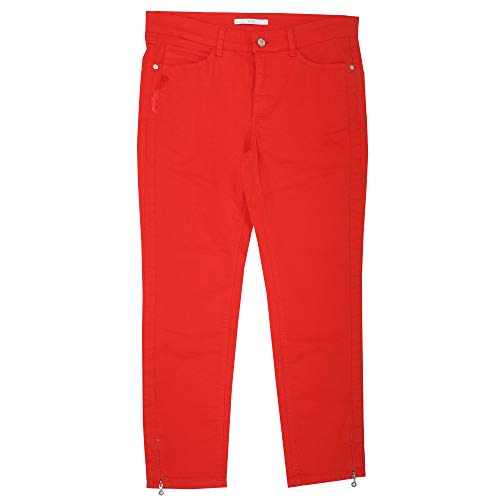 MAC Jeans, 7/8 Angela Zip Tropical, 7/8 Damen Jeans Hose, Gabardine Stretch, feuerrot, D 44 Inch 34 L 27 [21646]
