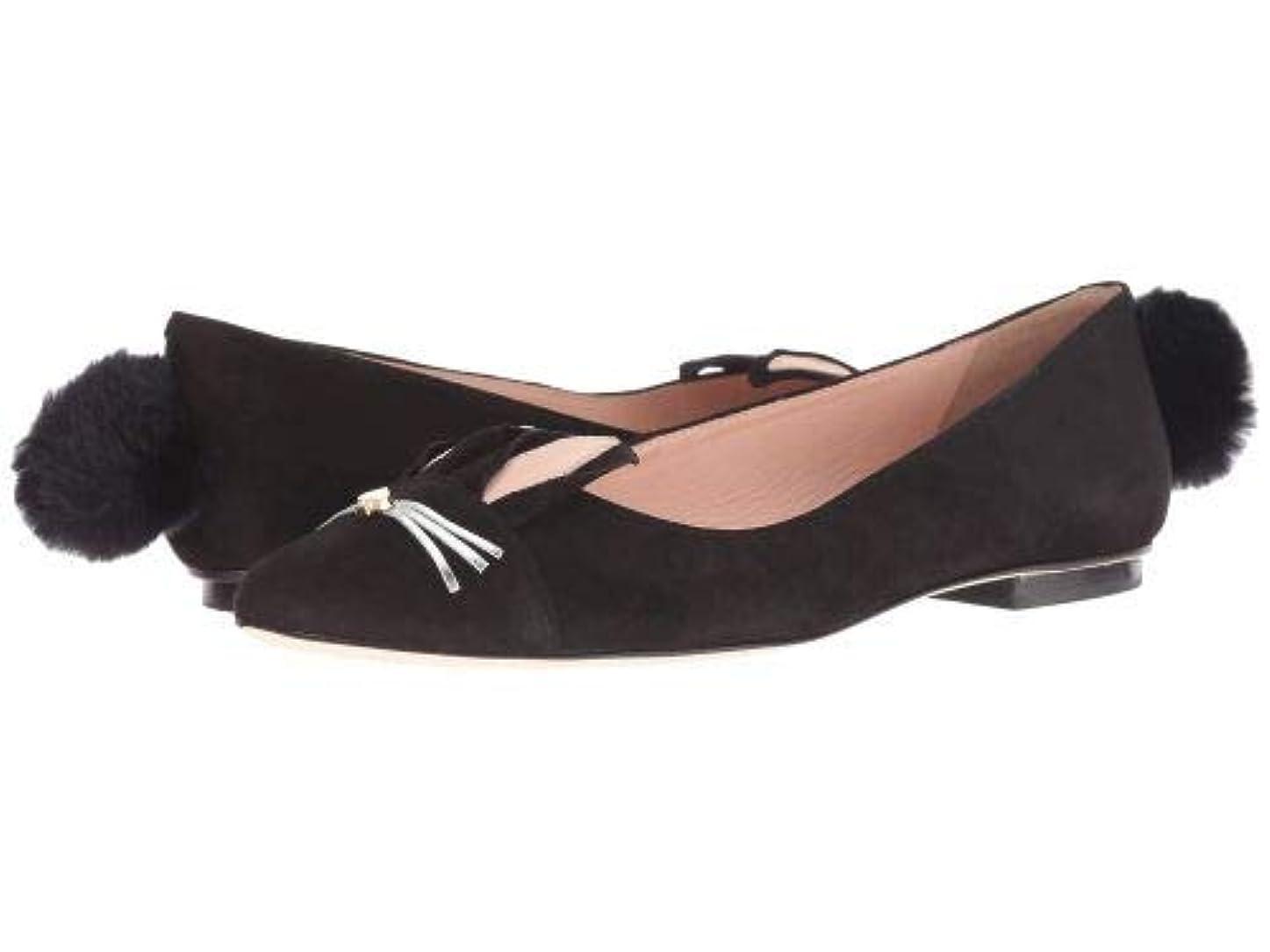 混乱した離婚無秩序Kate Spade New York(ケイト?スペード) レディース 女性用 シューズ 靴 フラット Edina - Black [並行輸入品]