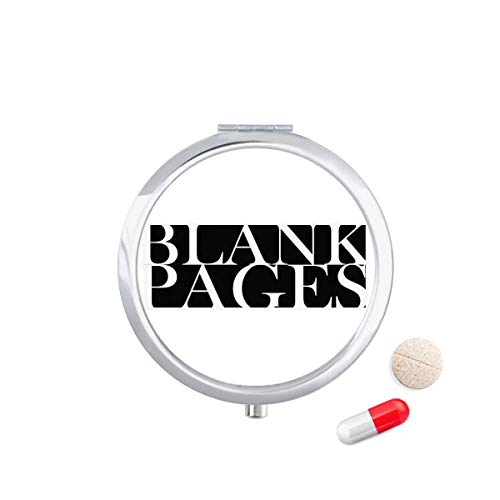 DIYthinker stijlvolle personages blanco pagina's Travel Pocket Pill Case Medicine Drug Opbergdoos Dispenser Spiegel Gift