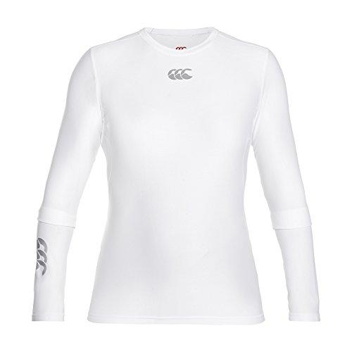 Canterbury Damen Oberteil Thermoreg Base Layer Langarm-Unterhemd, Weiß, XL, E646845-001-XL