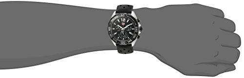 TAG Heuer Homme 43mm Bracelet Caoutchouc Noir Boitier Acier Inoxydable Quartz Montre CAZ1010.FT8024