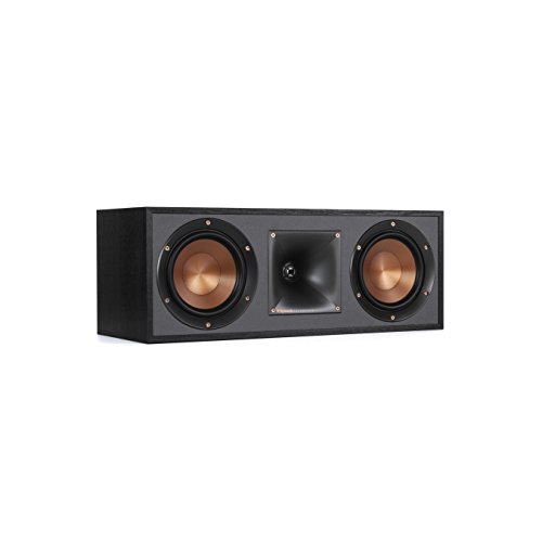 Klipsch R-52C Powerful Detailed Center Channel Home Speaker - Black
