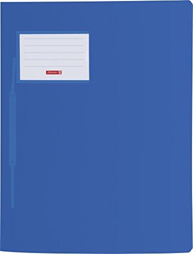 Brunnen 102015030 Schnellhefter FACT!pp (A4, aus transluzentem PP, mit Namensschild, mit Einstecktasche innen) blau