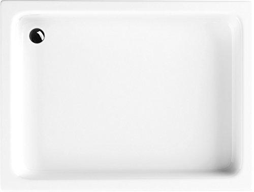Acryl-Duschwanne 80x100x26 cm Duschtasse Grawello rechteckig Duschkabine Styroporträger Sanitär-Acryl Duschbecken stabil weiß befliesbar+ Viega Domoplex