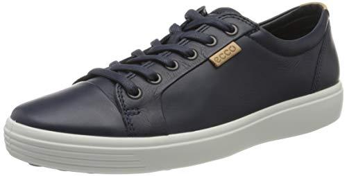 Ecco Herren SOFT7M Sneaker, Blau (Marine/Powder 51056), 45 EU
