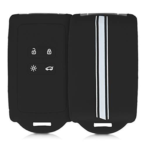 kwmobile Funda de Silicona Compatible con Renault Llave de Coche Smart Key de 4 Botones (Solo Keyless Go) - Carcasa para Llave de Coche - Case para Mando de automóvil Rally