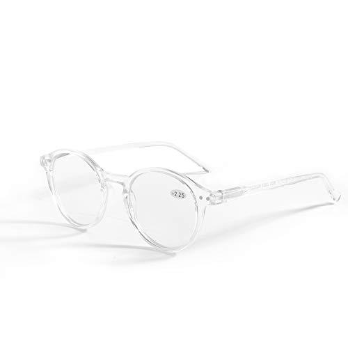 ZENOTTIC Gafas de Lectura de Bloqueo de Luz Azul Lentes Antirreflejos Gafas Retro de Ligero Marco Redondo para Hombres y Mujeres (Cristal, 1.50x)