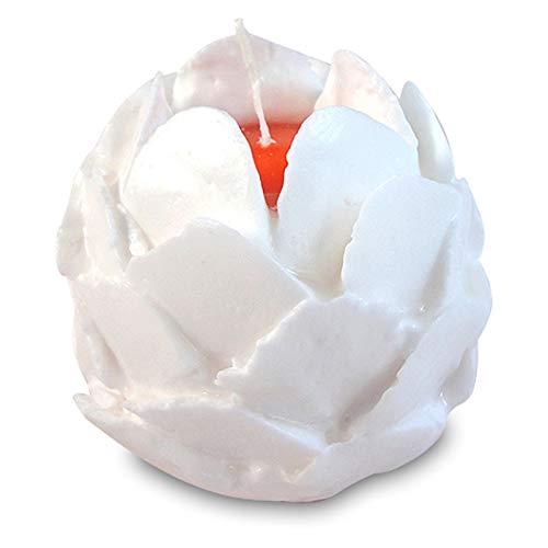 OLShop AG 3er Set Rosenduft-Kerzen in Geschenkverpackung Höhe: ca. 10 cm/Durchmesser: ca. 9 cm, Farbe weiß mit farbigen Kern