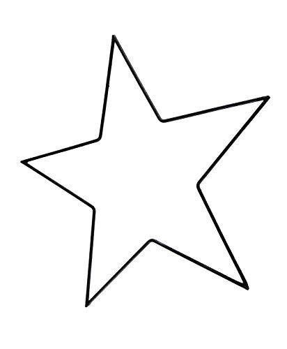 PARTS4LIVING Metall Stern Metallstern dünn schwarz zum Aufhängen 35 cm