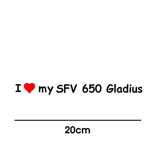 myrockshirt I Love My Suzuki SFV 650 Gladius 20cm Aufkleber für Motorrad Bike Roller Mofa Sticker Decal Tuningaufkleber Tuning
