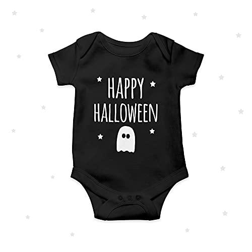 Happy Halloween lindo bebé crecer bebé mono negro bebé ropa mono 9 meses
