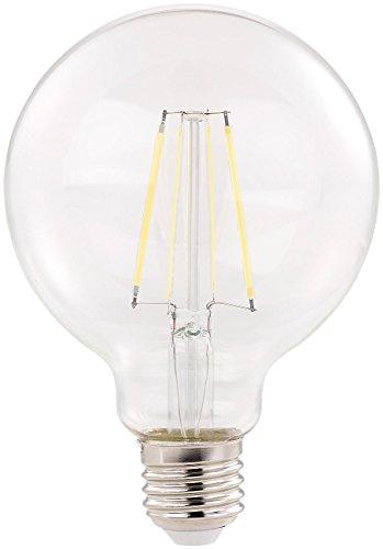 Luminea LED Globe: LED-Filament-Birne, E27, A++, 6 W, 806 lm, 360°, tageslichtweiß, G95 (Globe E27)