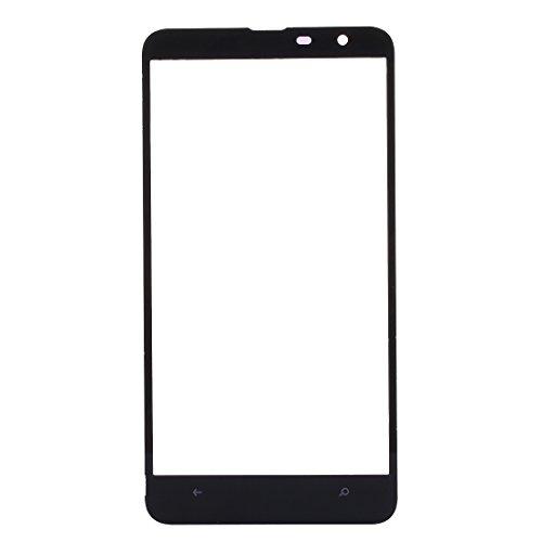 Weeksu Obiettivo Buon Schermo Anteriore Vetro Esterno for Nokia Lumia 1320 (Nero) (Colore : Black)