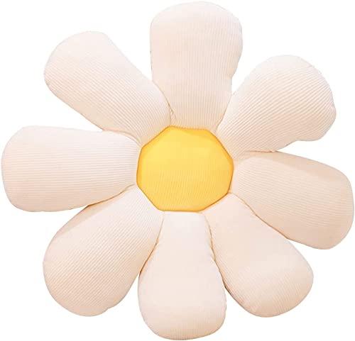 Roki-X Cómodo cojín de Girasol, cojín de Asiento Grueso con Forma de Flor, Almohada de Felpa de Flores, Juguete de Felpa, para sofá, Silla, niños, Lectura, Interior, Exterior, jardín, Oficina