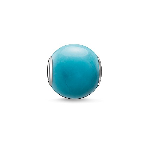 Thomas Sabo Damen-Bead Karma Beads 925 Sterling Silber behandelter Howlith poliert türkis K0035-589-17