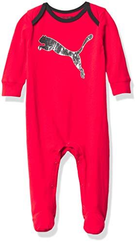 PUMA One Piece Footie - Bebé y niños pequeños, Rojo, 0-3 Meses para Bebés