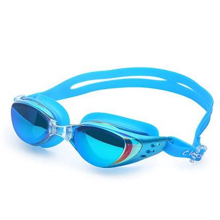 ASDZ Gafas de natación para Hombres y Mujeres,Marco Grande,galvanoplastia,Gafas de natación Impermeables y antivaho,Gafas de natación para miopía de Alta definición con Gafas graduadas