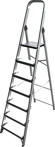 ALTIPESA - Escalera Doméstica de Aluminio, Peldaño 12 cm. (7 peldaños)